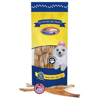 Shadow River Beef Tendon Chews for Dogs - Made in USA With No Additives, All Natural Premium Rawhide Free Single Ingredient Dried Jerky Dog Treats, Regular Size 7-11 Inch Sticks
