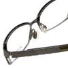 Burberry Designer Reading Glasses B1141-1057 in Dark Gunmetal 51mm