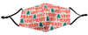 !Calabria Durable Cotton Lining Christmas Theme Face Mask Built In Filter Pocket