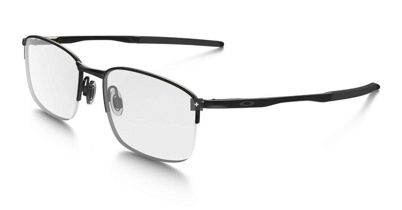 c1a5027f9c1a Oakley Optical Designer Eyeglasses Taproom 0.5 in Polished Black  OX3202-0254 :: Custom Left
