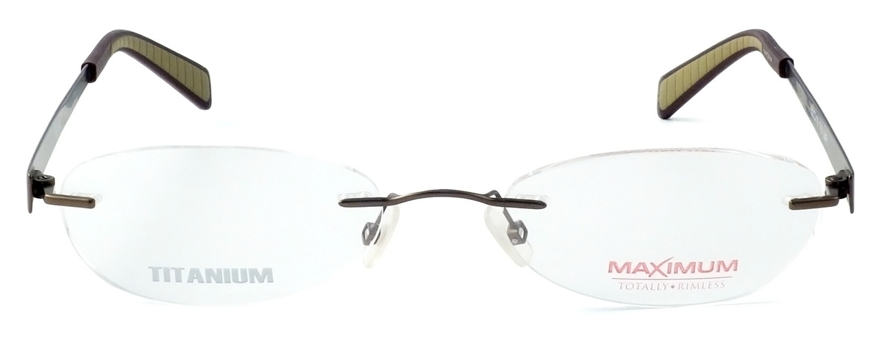 0a3b16161775 Totally Rimless Designer Eyeglasses TR163-BRN in Brown    Custom Left   Right  Lens