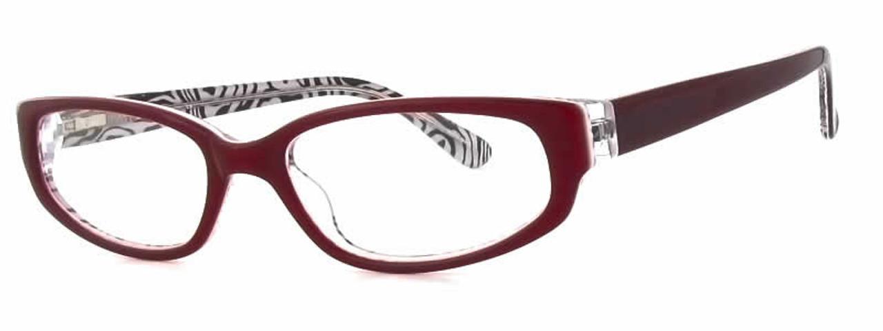 1e23f6fa227 Calabria Viv 725 Wine Zebra Designer Eyeglasses    Rx Single Vision ...