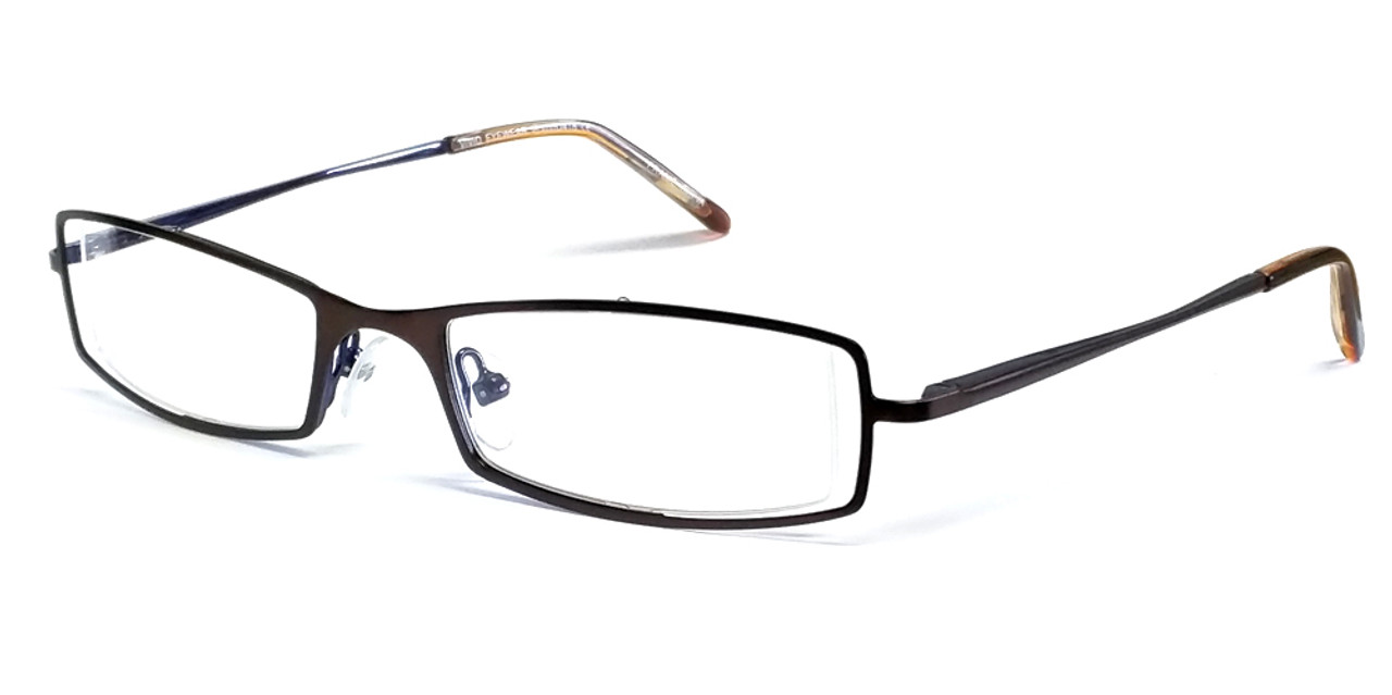 e8b1af67a1b Calabria Viv 418 Designer Eyeglasses in Brown-Blue    Rx Single Vision