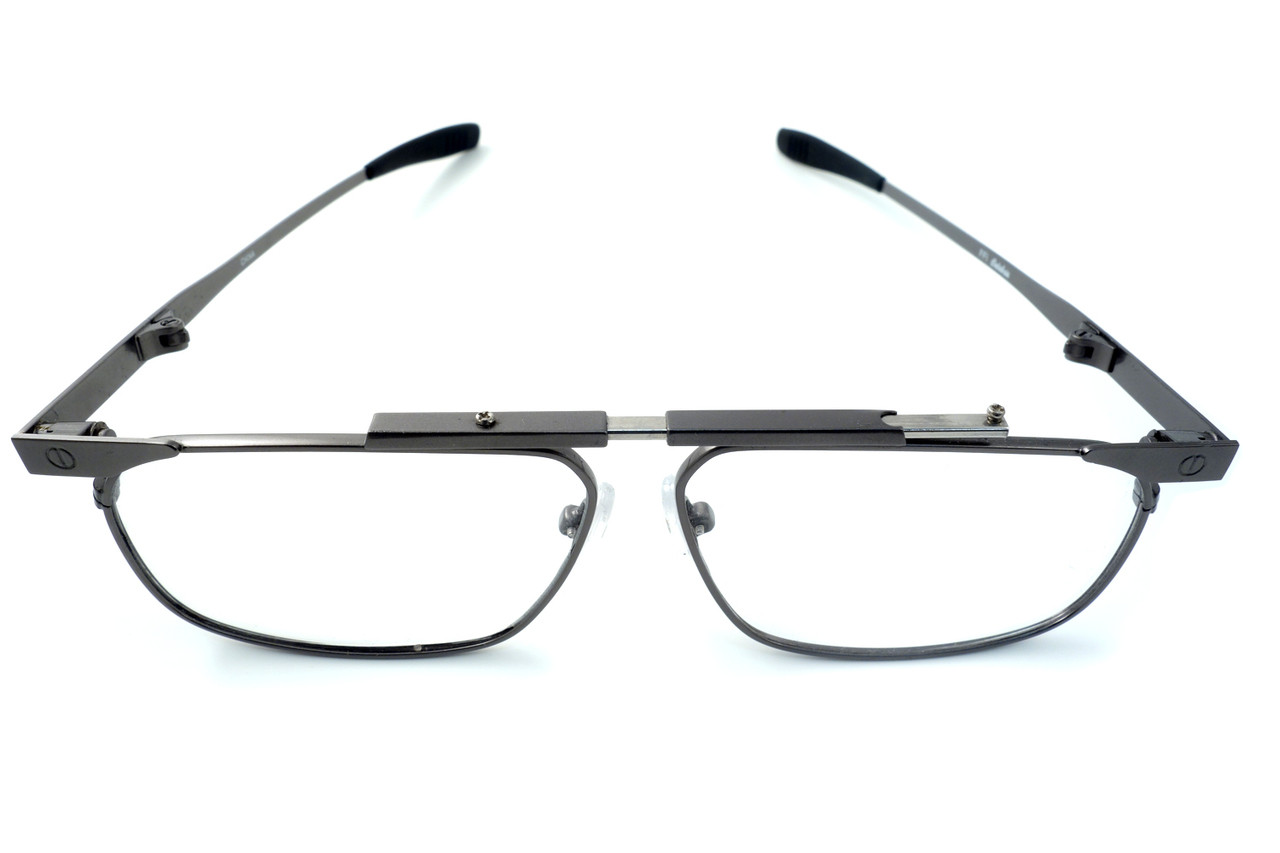 e2d5abe8e4ac Calabria FAST-FOLD Metal Folding Eyeglasses w  Case in Pewter    Rx Single