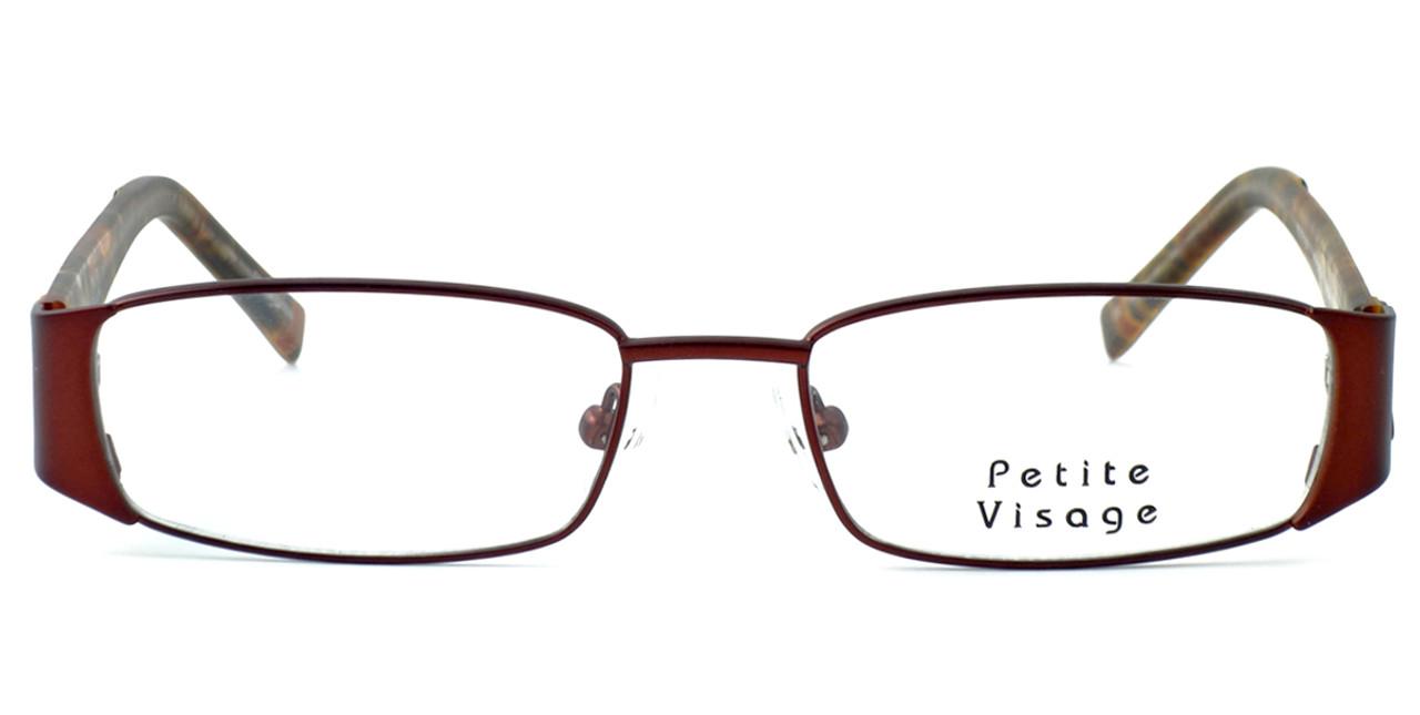 94ba2870cb5 Visage Petite Designer Eyeglasses 100 in Brown    Rx Single Vision ...