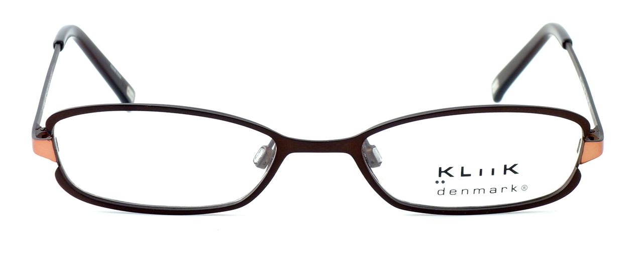 4cbb7de450 Kliik Designer Eyeglasses 299 in Brown Copper    Rx Single Vision ...