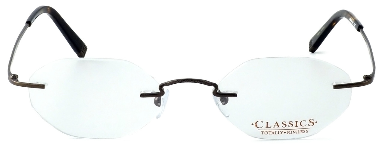 1e2fd6c6bd41 Totally Rimless Designer Eyeglasses TR145-SGE in Satin Brown    Rx Single  Vision