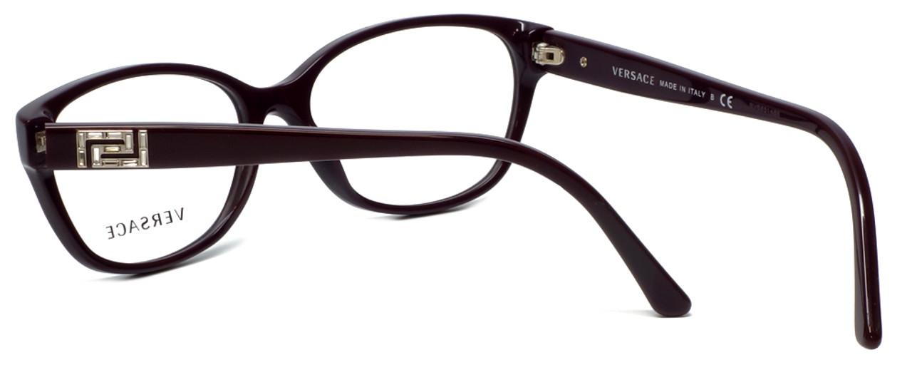 c48b10fb6f1 Versace Designer Eyeglasses 3189B-5066 in Purple 54mm    Rx Single Vision