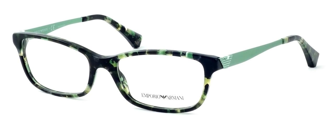 339e66a87e0e Emporio Armani Designer Eyeglasses EA3031-5227 53mm in Green Havana     Progressive - Speert International