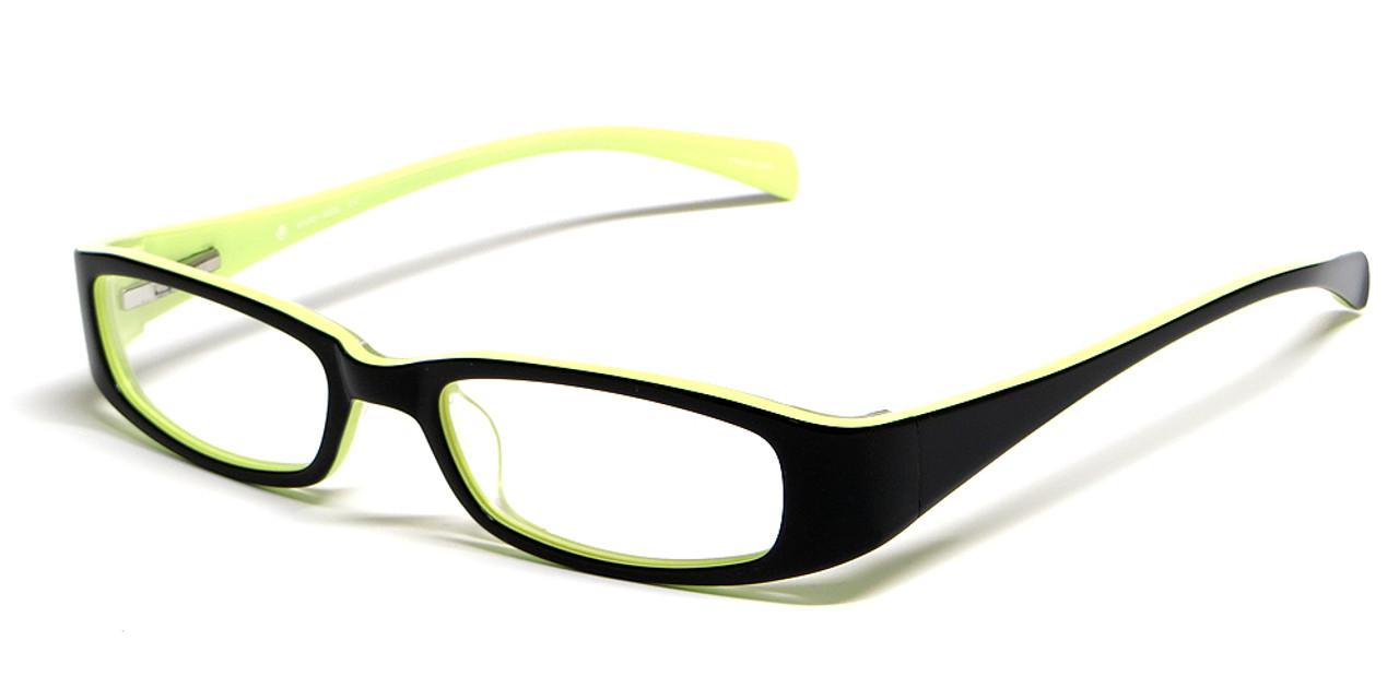 35414368a59 Calabria Viv Kids 119 Designer Reading Glasses in Black-Yellow - Speert  International