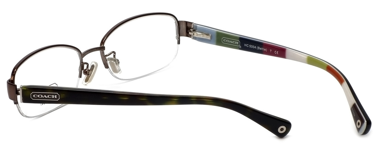 7059c78f6e4c Coach Womens Designer Eyeglasses 'Bettie' HC5004 in Dark Brown (9027) 53mm :