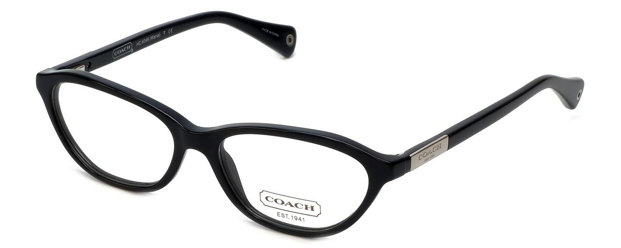 a9015d4a2dd Coach Womens Designer Eyeglasses  Maria  HC6046 in Black (5002) 50mm ...