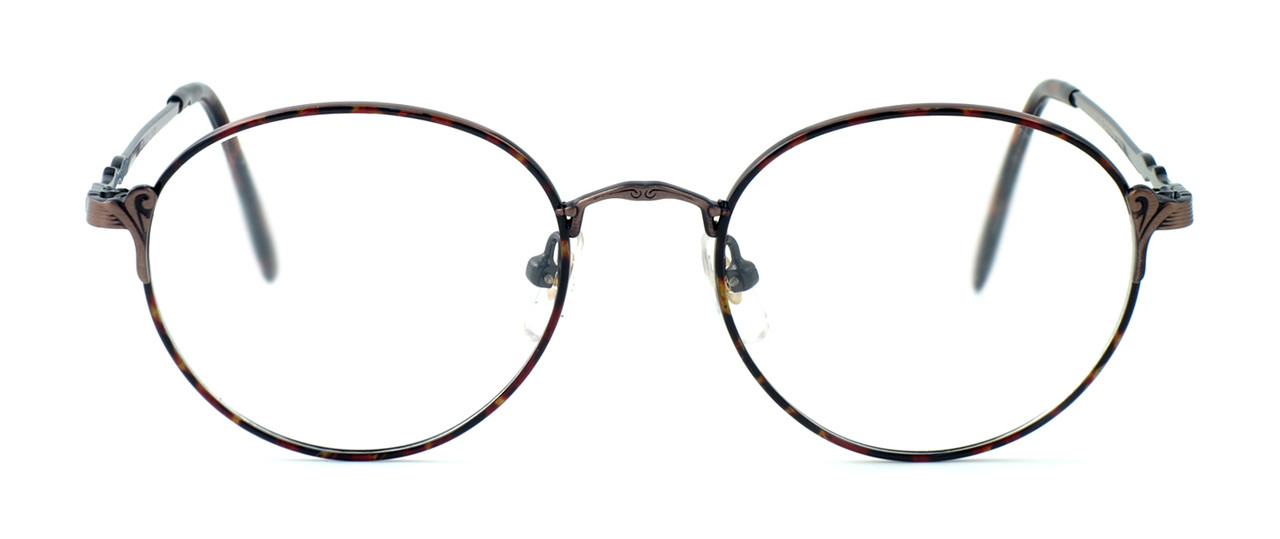 25323283941c Fashion Optical Designer Eyeglasses E303 in Antique Brown   Demi Brown     Rx Bi-