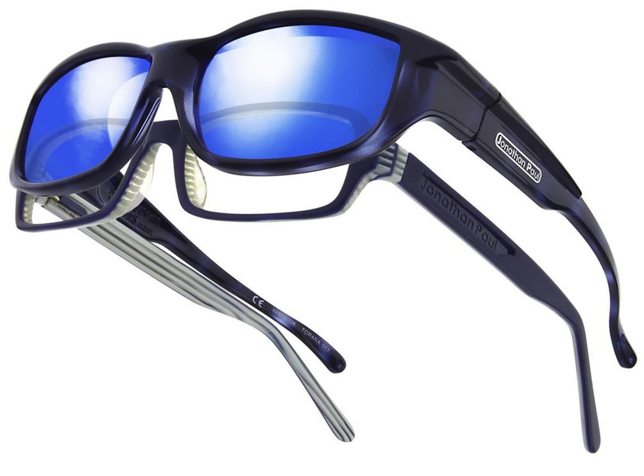 f0c65f4ced Jonathan Paul® Fitovers Eyewear Large Torana in Blue-Demi   Blue Mirror  TR001BM