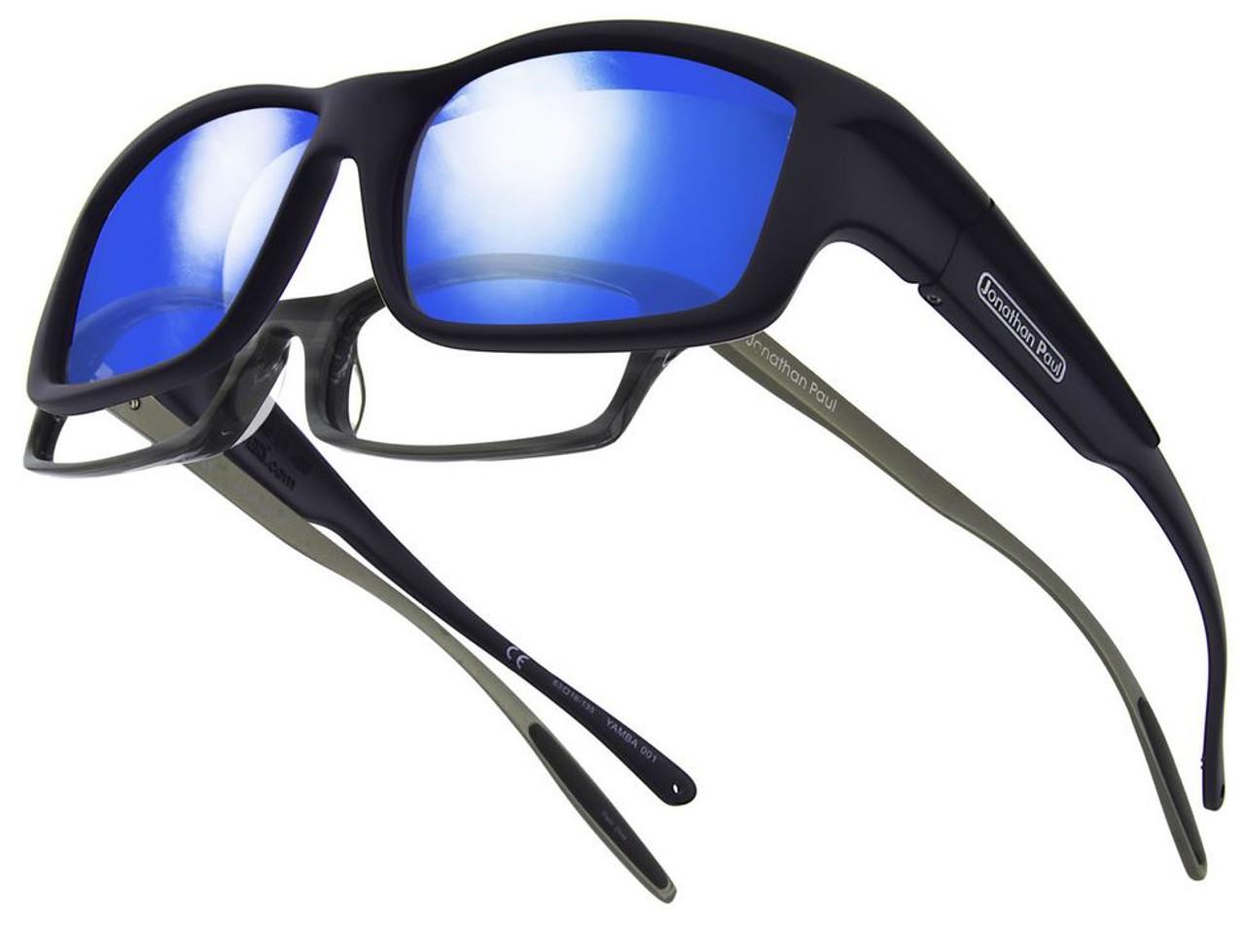 7eaf337ec2 Jonathan Paul® Fitovers Eyewear X-Large Yamba in Satin-Black   Blue Mirror