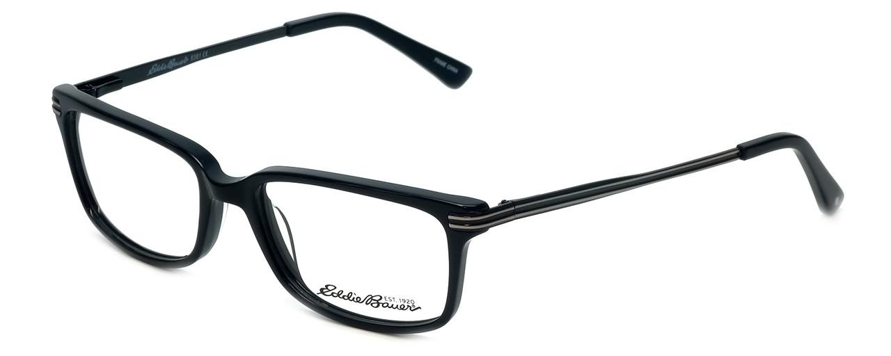 e523011e8f Eddie-Bauer Designer Eyeglasses EB8381 in Black 52mm    Custom Left   Right  Lens