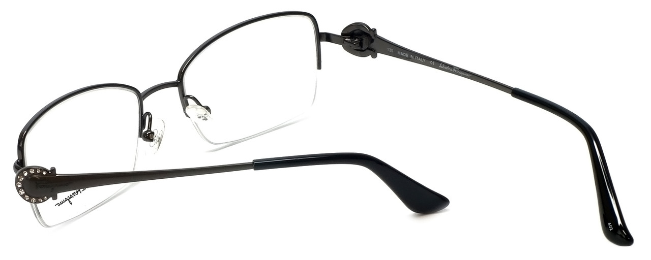 d0f89298337 Salvatore Ferragamo Designer Eyeglasses SF2132R-015 in Shiny-Gunmetal 52mm     Rx Bi