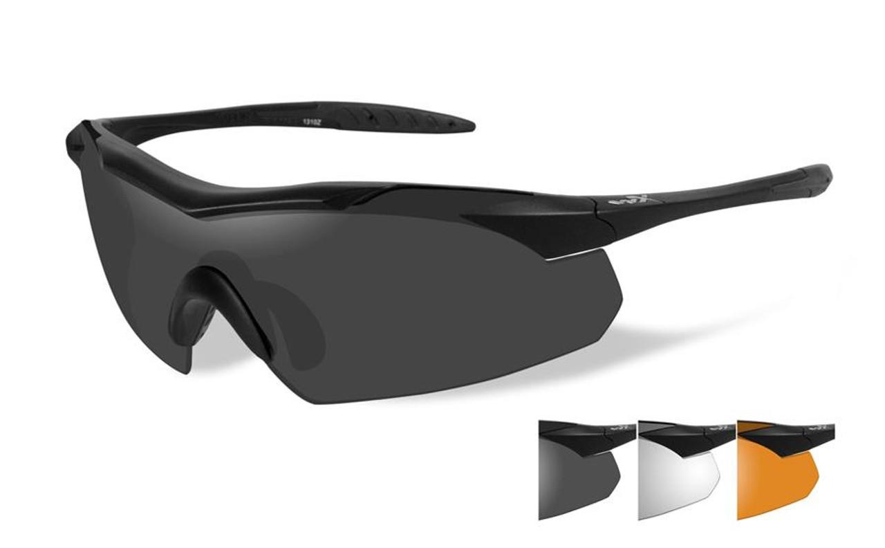 07b284e1af Wiley X Vapor Designer Sport   Work Sunglasses in Matte Black   Rust (3-Lens  Set) - Speert International