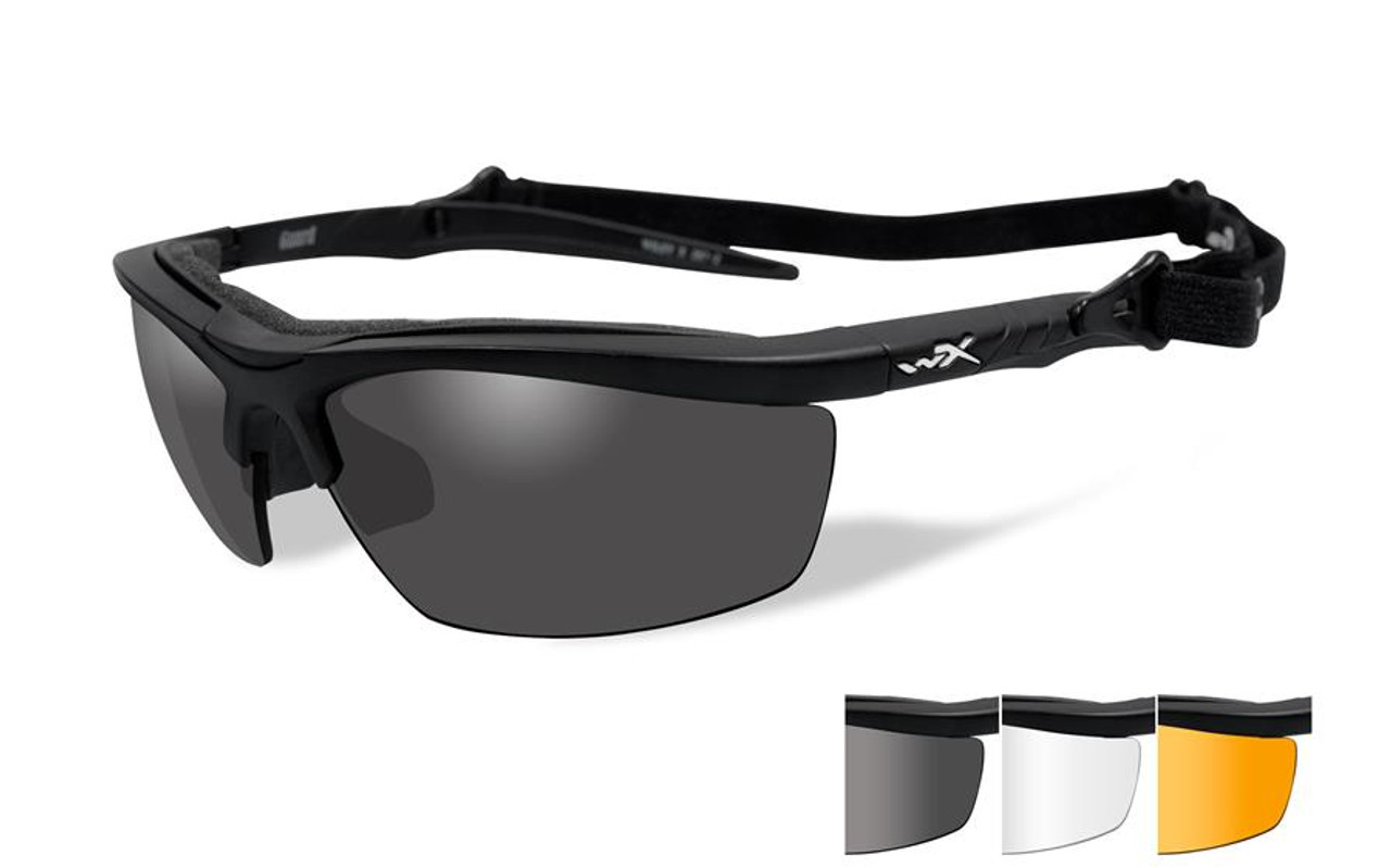 87c110932ef Wiley X Guard Safety Glass in Matte Black Grey Clear Rust Lenses - Speert  International