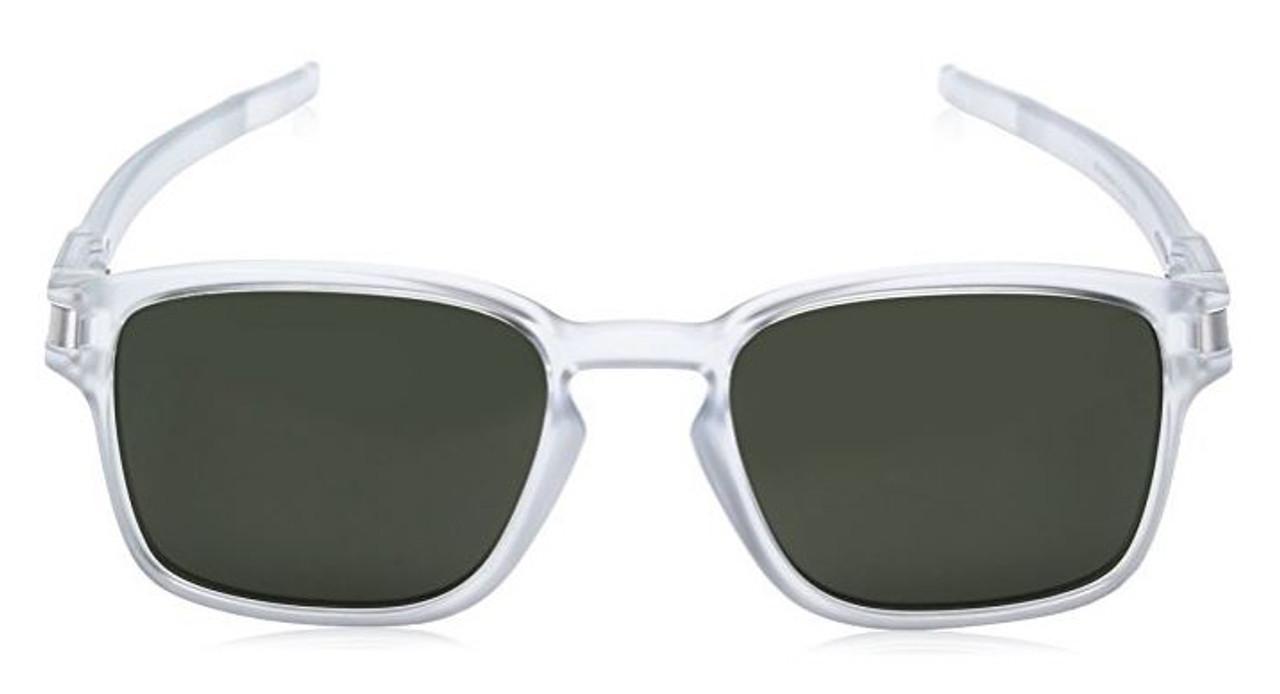 Oakley Designer Sunglasses Latch SQ OO9353-07  in Matte-Clear & Dark Grey Lens