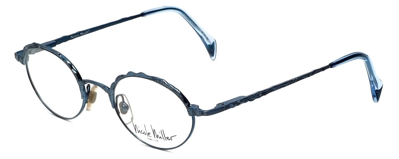 3218bc1191f Nicole Miller Designer Eyeglasses 1257 Ozone in Antique Blue 49mm ...