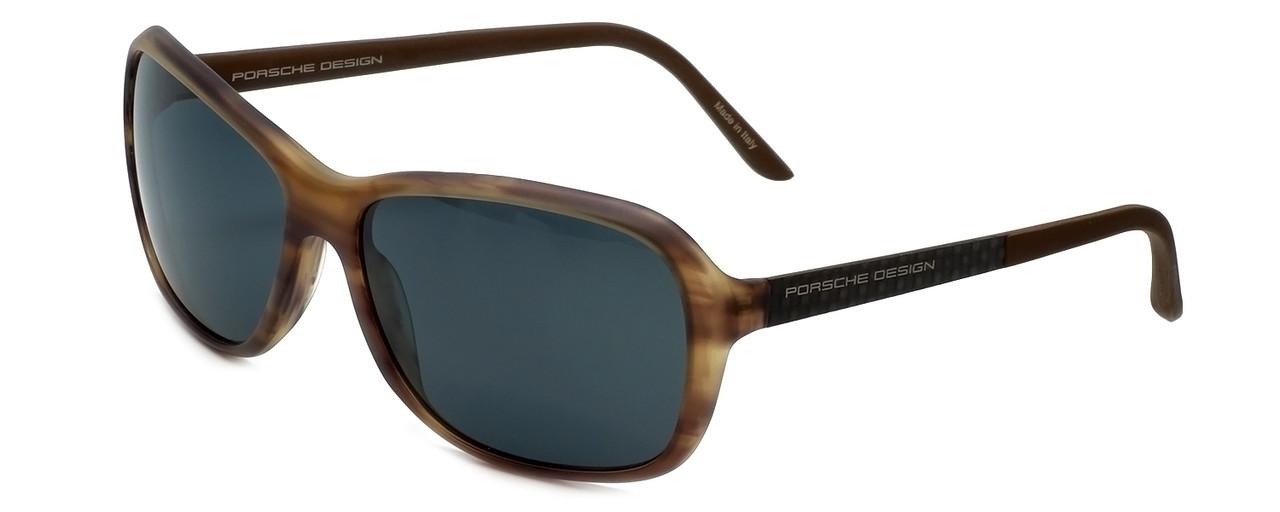 cb495cb7e518 Porsche Designer Sunglasses P8558-B in Brown-Striped with Grey Lens ...