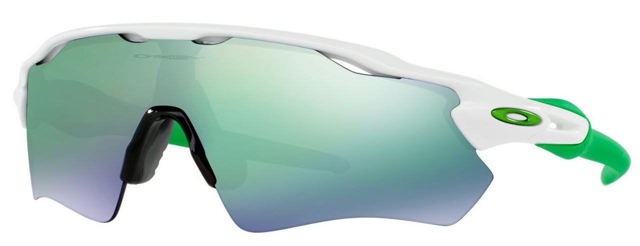 4e45a7f8a2d Oakley Designer Sunglasses Radar EV Path OO9208-4838 in White with Jade  Iridium Lens