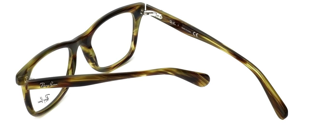 de47a6ecdb542 Ray-Ban Designer Eyeglasses RB5317-5385 in Striped-Green-Havana 52mm ...