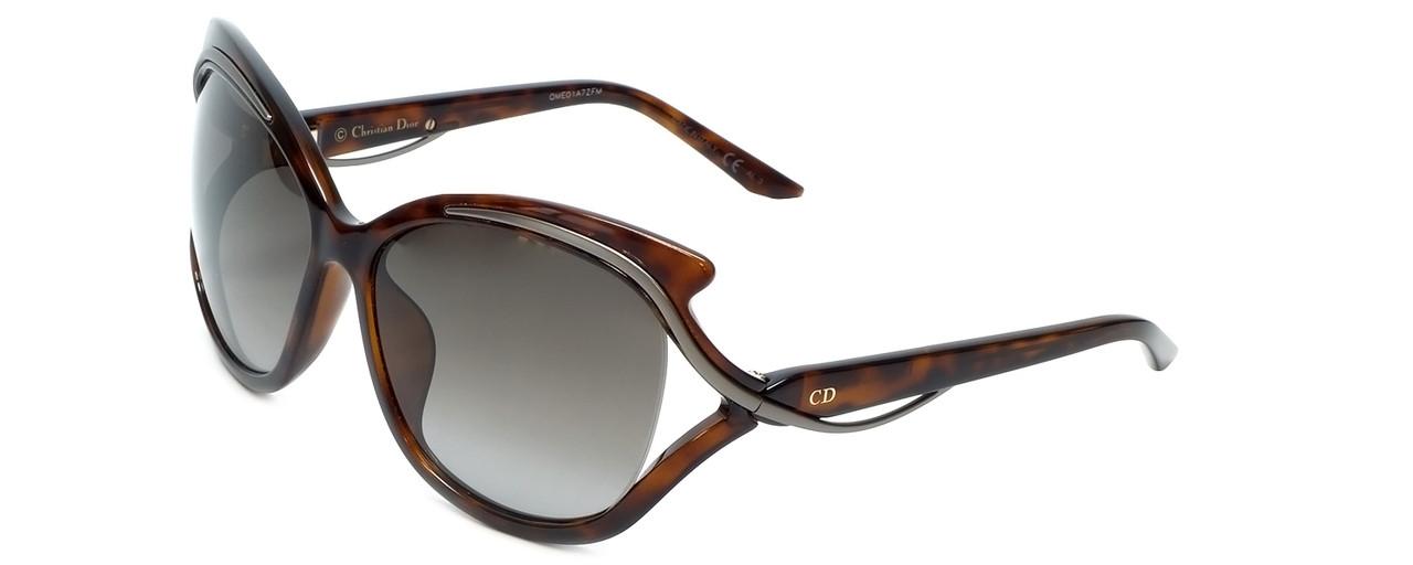 fcc54361b1 Christian Dior Designer Sunglasses Audacieuse2 9OJ in Havana with Brown  Gradient Lens