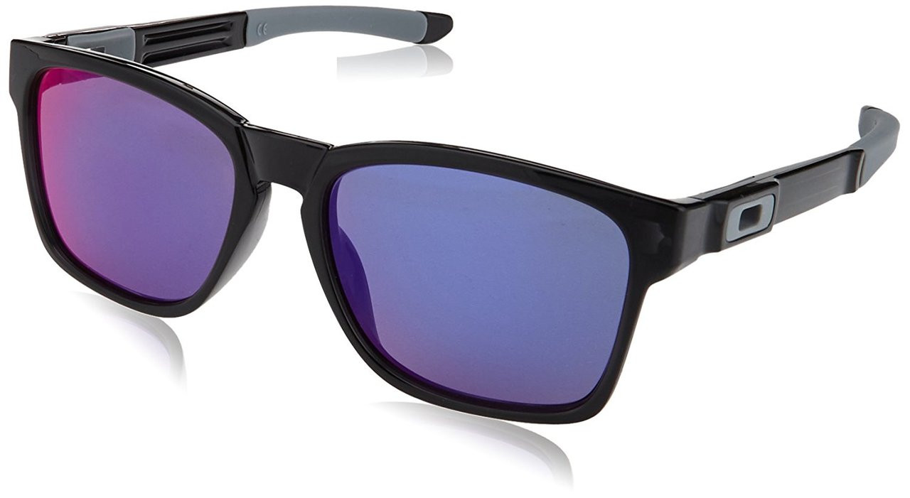 Oakley Designer Sunglasses Catalyst OO9272-5617 in Black Ink with Red Iridium Lens