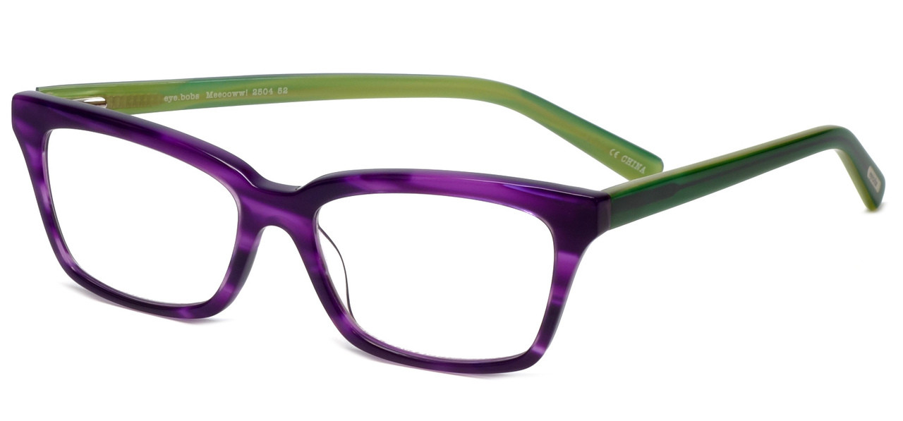 a1945df5bc0 EyeBobs Designer Reading Glasses Meeooww! 2504 52 in Green   Violet ...