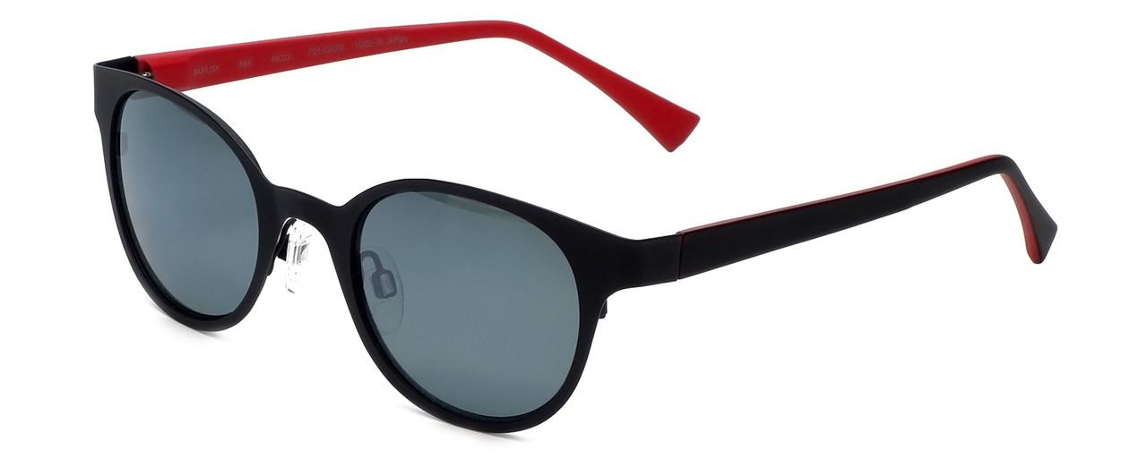 1e9d701c26b Reptile Designer Polarized Sunglasses Basilisk in Matte-Black with Flash  Mirror Lens