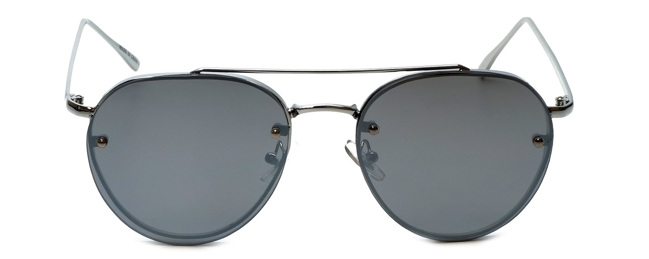Silver Frame with Grey Tint/Silver Mirror Lens