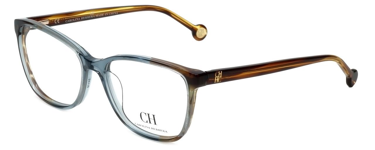 6069221d534d Carolina Herrera Designer Reading Glasses VHE717K-0844 in Blue-Brown 54mm -  Speert International