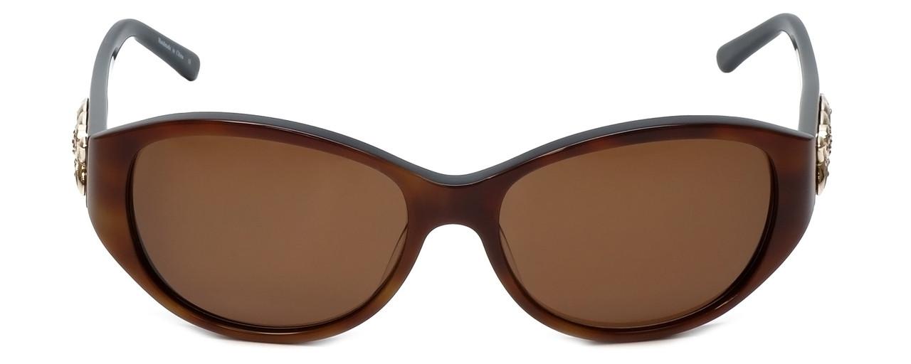 36b95d14b2 Judith Leiber Designer Sunglasses JL5002-02 in Topaz in Brown Lens ...