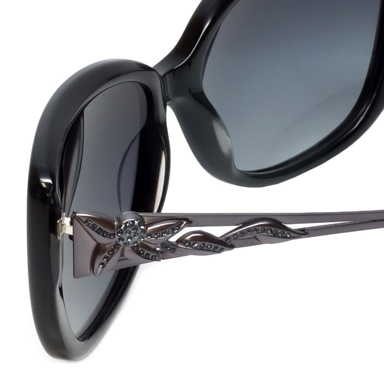 e46f5bf79b Judith Leiber Designer Sunglasses JL5009-01 in Onyx in Navy-Gradient Lens