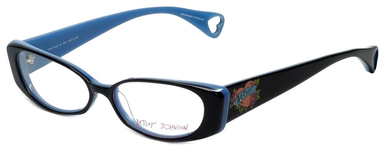 563b955cf16 Betsey Johnson Designer Eyeglasses Heart-Throb BJ021-01 in Black 52mm    Rx  Bi-Focal - Speert International