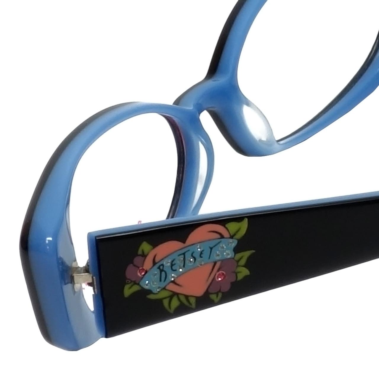 5782d2a742e Betsey Johnson Designer Eyeglasses Heart-Throb BJ021-01 in Black 52mm    Rx