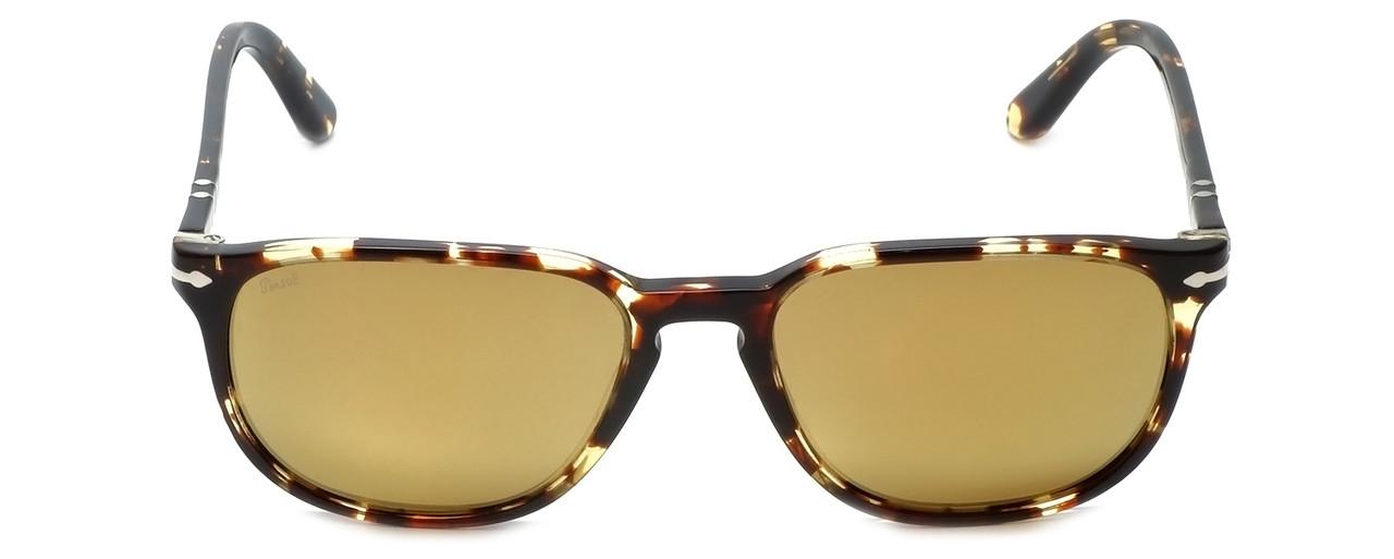 22d97ed74a Persol Designer Sunglasses PO3019S-985W4 in Tabaco   Gold Mirror Lens