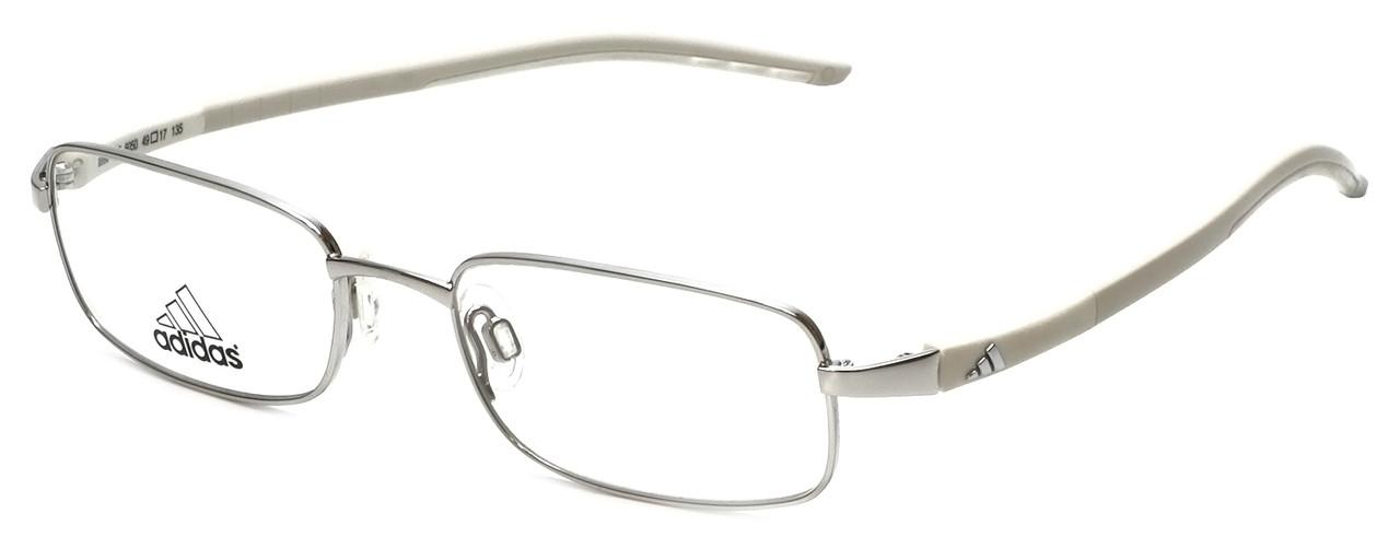 7f7ae6d53b3 Adidas Designer Kids Reading Glasses a990-00-6050 in Silver-White 49mm -  Speert International