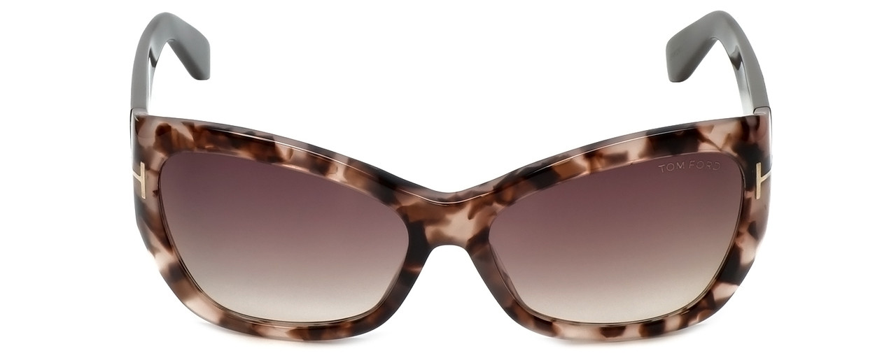 bc3c7fbe5ebac Tom Ford Designer Sunglasses Corinne TF460-74P in Rose-Havana with Rose- Gradient
