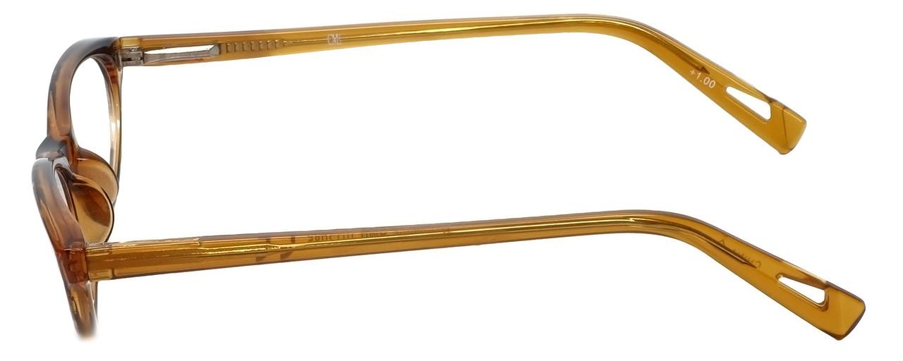fcd859e46ad Corinne McCormack Designer Reading Glasses Roseanne in Amber 50mm ...
