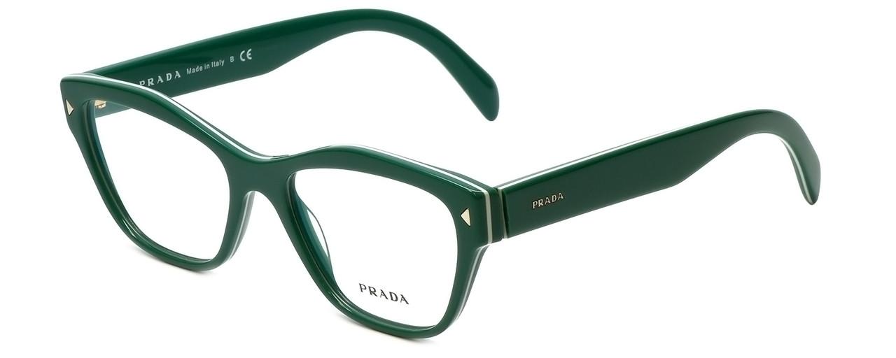 9af63a24d9f1 Prada Designer Eyeglasses VPR27S-UR11O1 in Green 51mm    Progressive -  Speert International