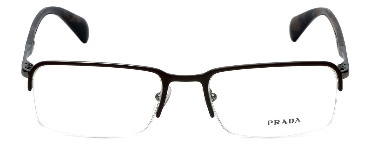 5cfb6f14298 Prada Designer Reading Glasses VPR59Q-LAH101 in Brown-Marble 55mm ...
