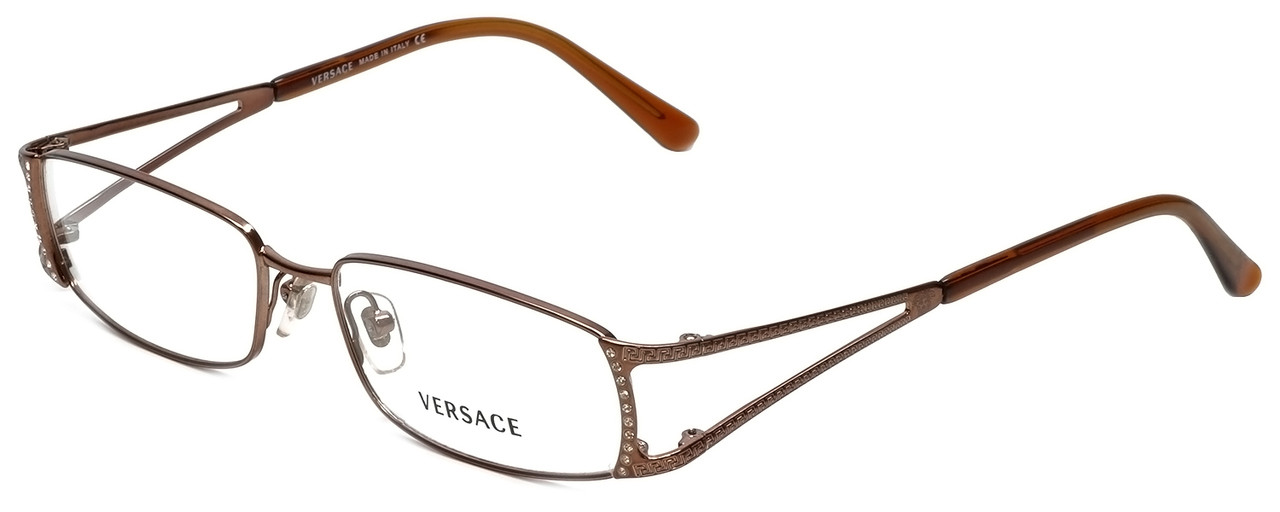 1b3897db521 Versace Designer Eyeglasses 1091B-1045 in Copper 52mm    Custom Left    Right Lens