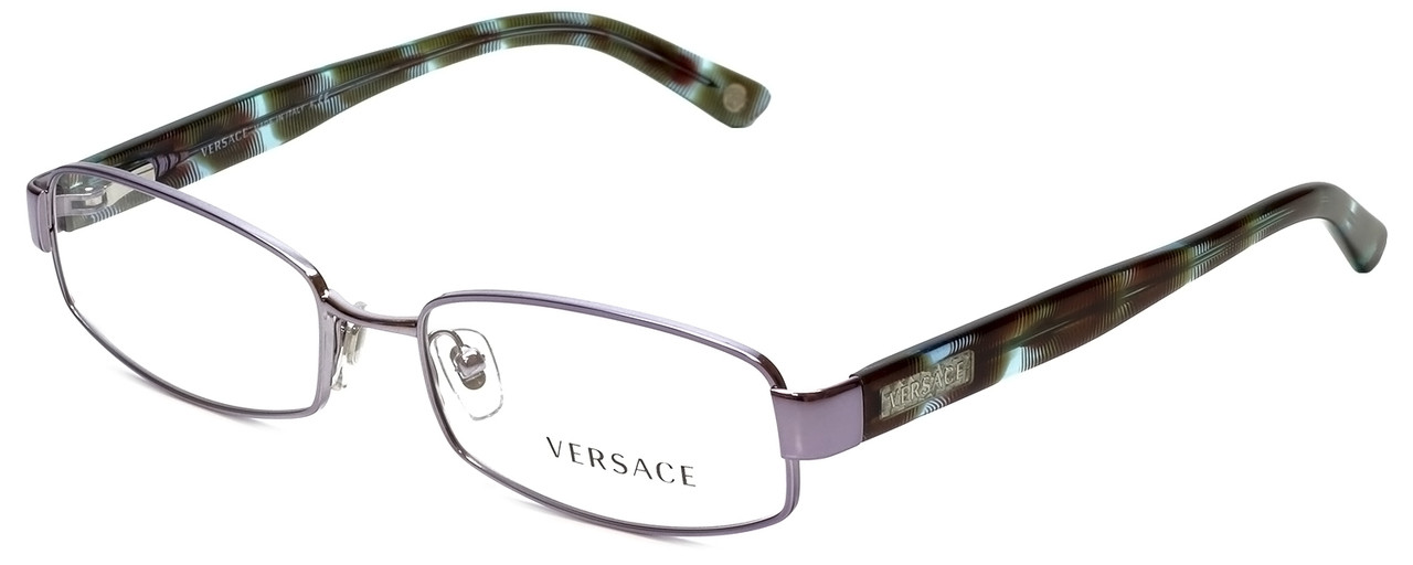 e11c877a031 Versace Designer Eyeglasses 1176-1029 in Lilac Striped Turquoise ...