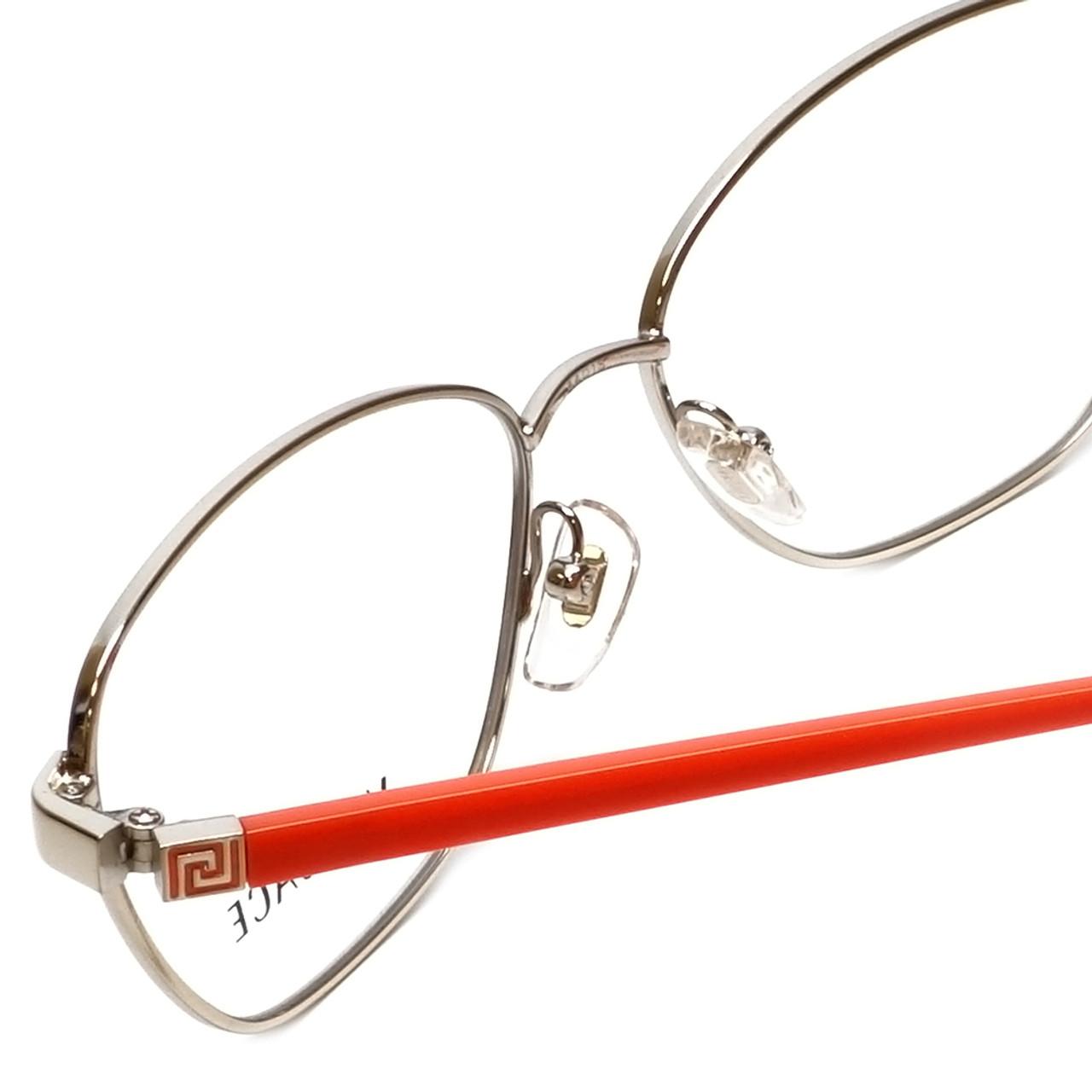 17d77686d669 Versace Designer Reading Glasses 1221-1252-52 in Pale Gold/Orange 52mm