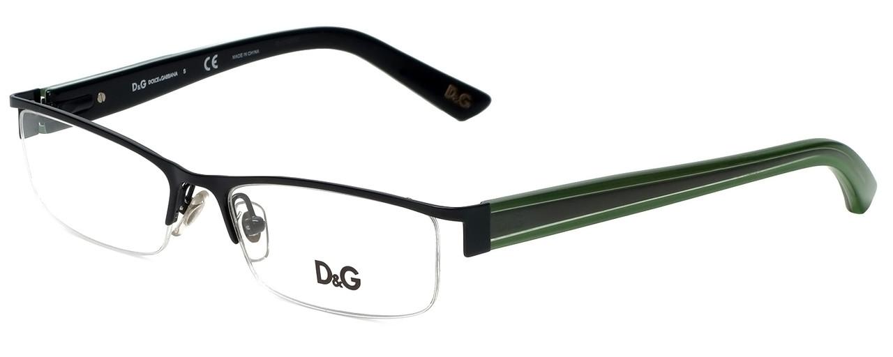 cb64eaa1c23d Dolce   Gabbana Designer Reading Glasses DG5069-401 in Black Green 52mm