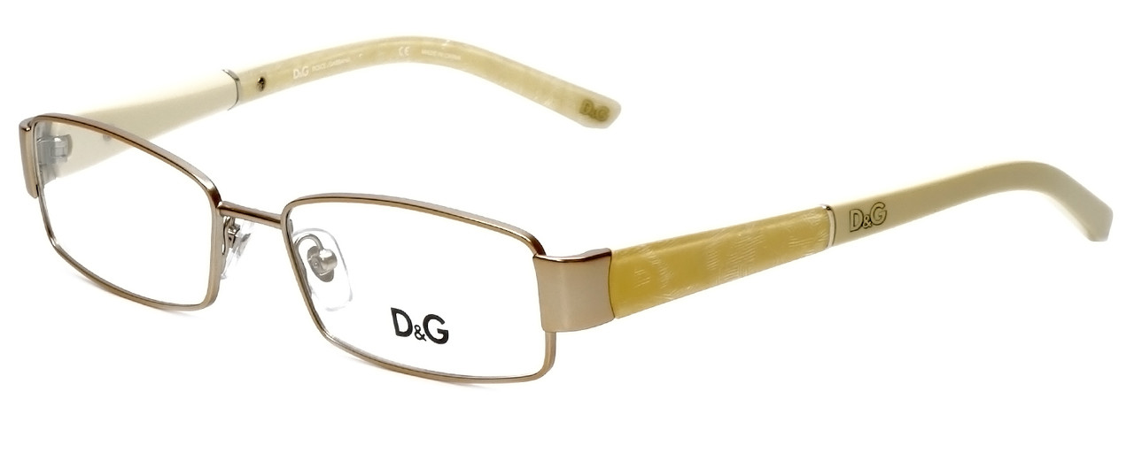 1a53df7174 Dolce   Gabbana Designer Reading Glasses DG5073-493 in Gold Cream 51mm -  Speert International