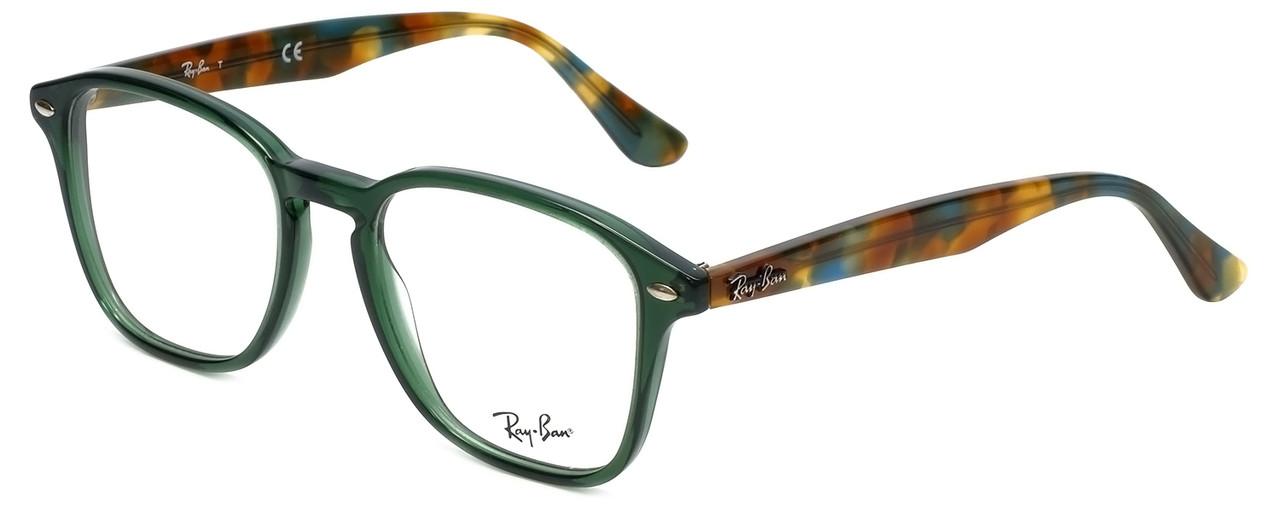 0e8db4a43bce Ray-Ban Designer Reading Glasses RB5352-5630 in Green Tortoise 52mm ...